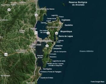 Mapas Melhores Praias de Santa Catarina
