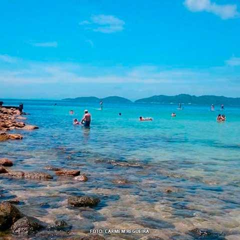 Praia Quatro Ilhas Mapa Melhores Praias Santa Catarina